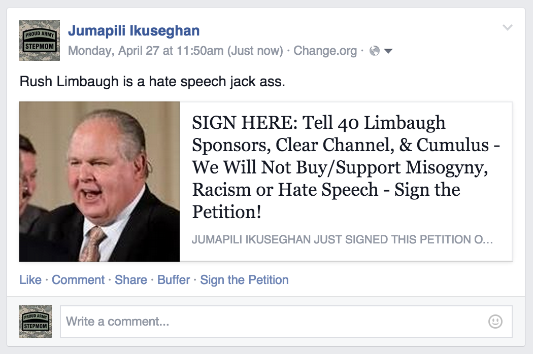 Sick of Rush Limbaugh? Tell His Sponsors We Won't Pay For Hate Speech